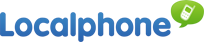 "LocalPhone Logo. ""Localphone have slashed the cost of international calling!"""