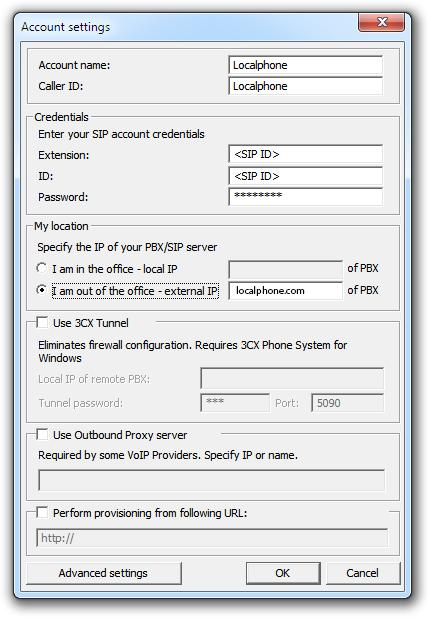 Configure 3CX Softphone | Localphone