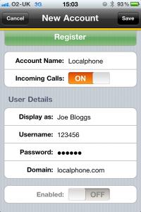 Configure Bria | Localphone